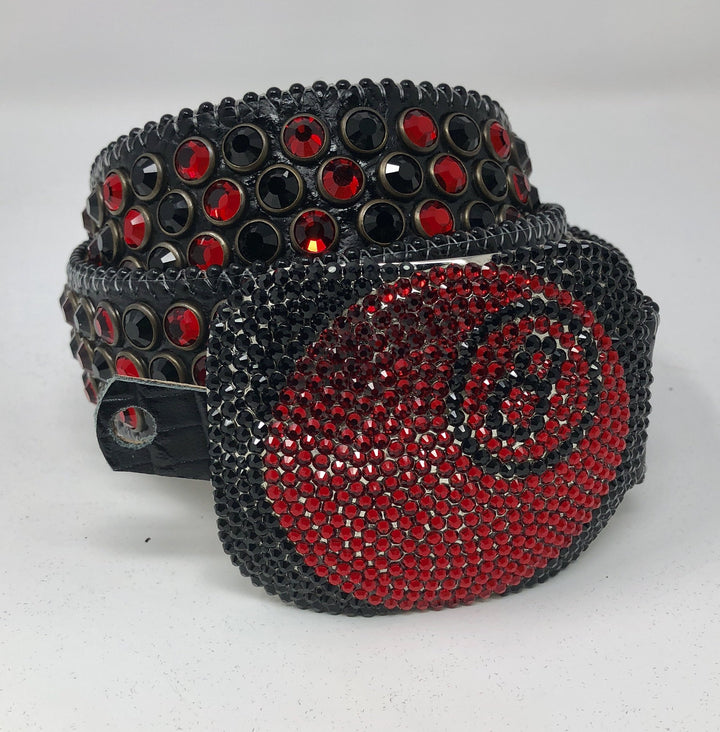 "BB Simon ""8 Ball"" Black/Red Stone"