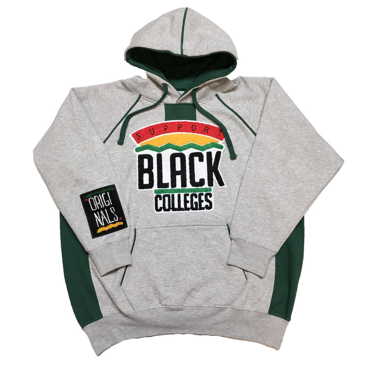 "Originals ""Support Black Colleges"" Two-Tone Hoodie ""Grey/Green"""