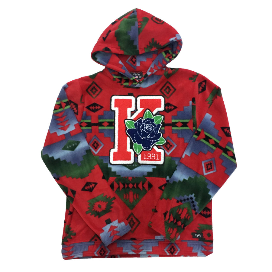ByKiy Native Red Varsity Hoodie