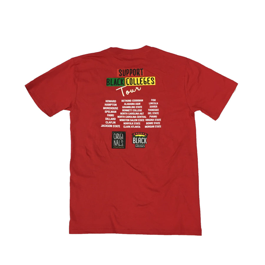 "Originals ""Support Black Colleges"" Tour Short Sleeve ""Red"""