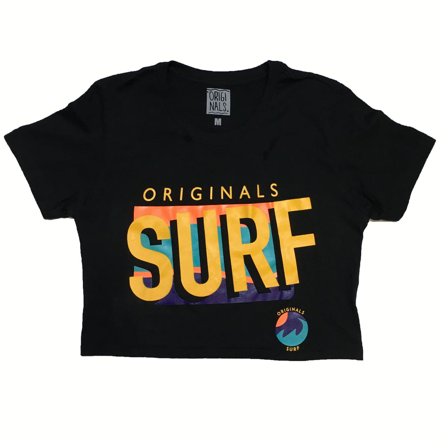 "Originals ""SURF"" Crop Top ""Cancun Black"""