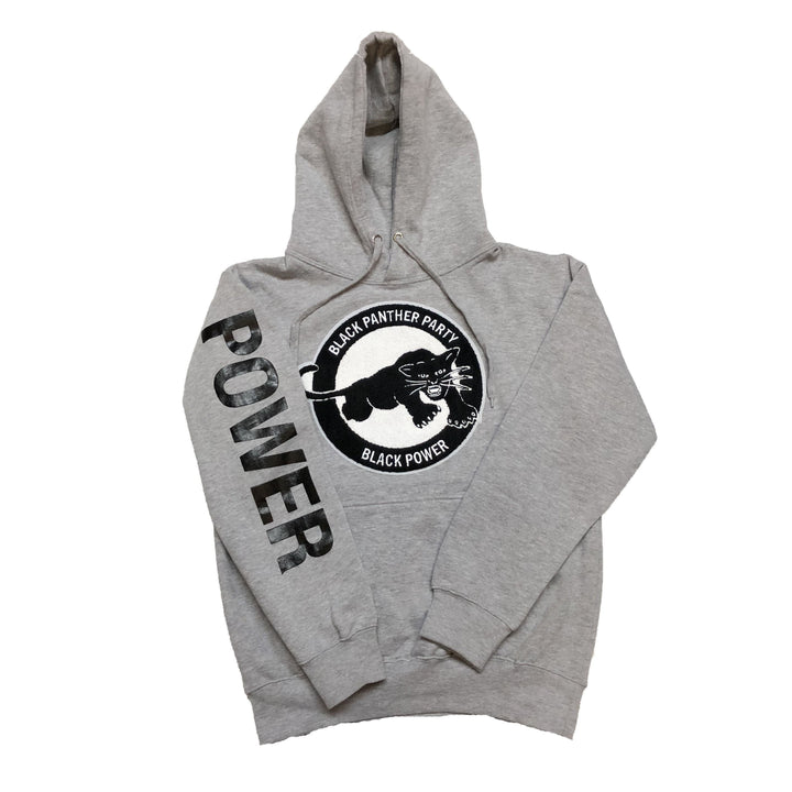"Black Power Hoodie ""Grey"""