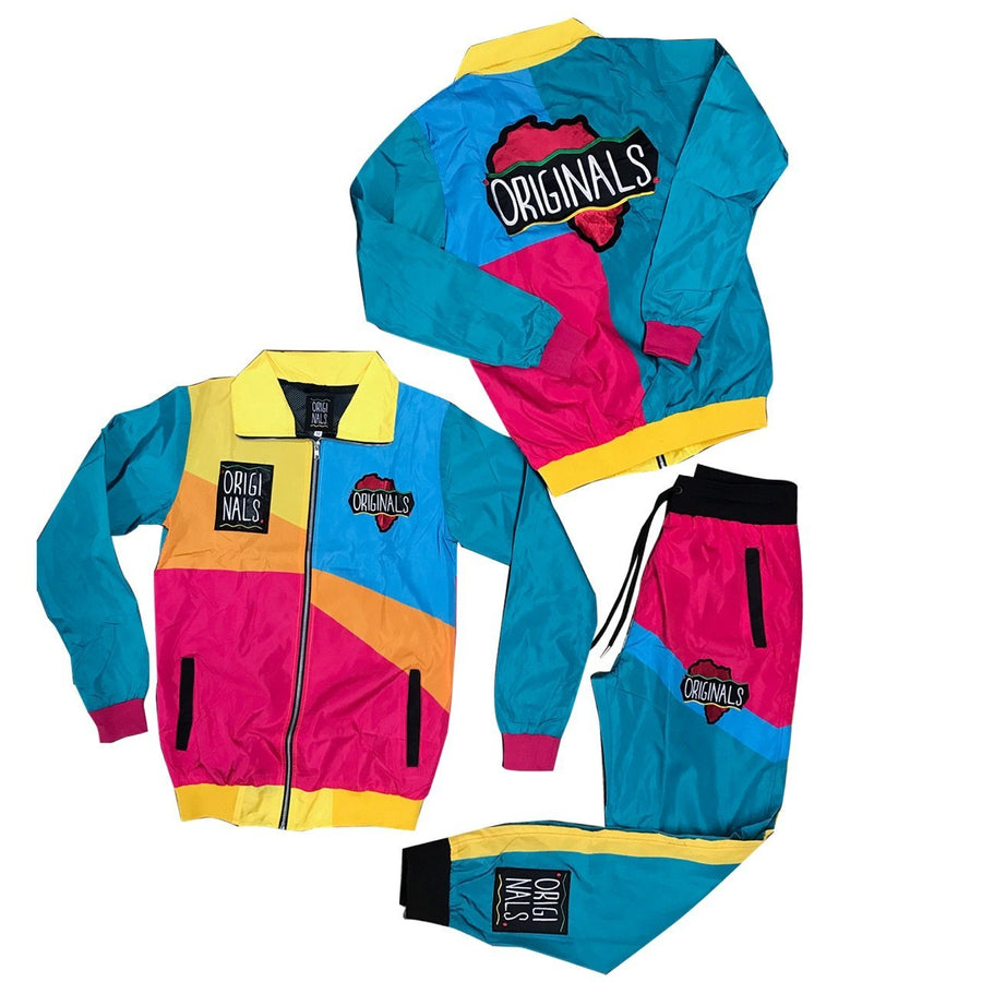 "Originals ""Motherland"" Windbreaker Suit ""Turq/Pink/Yellow/Orange"""