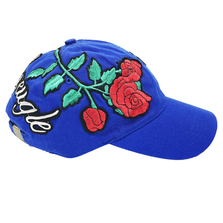 "L Avengles ""Antique Rose"" Dad Hat ""Royal"""