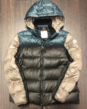 "Moncler Hooded Down Jacket ""Green/Brown"""