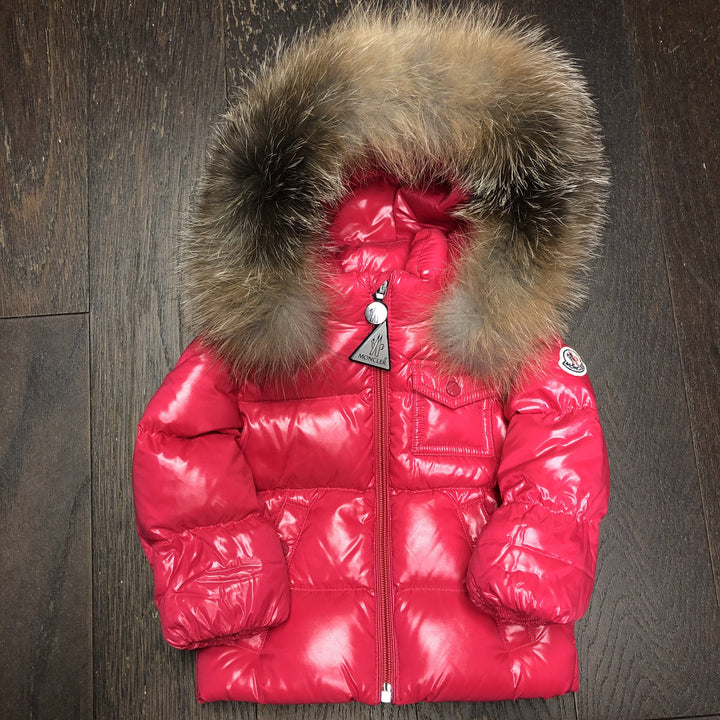 "Baby Moncler Fur Down Coat ""Pink"""