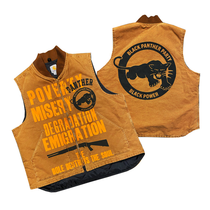 "By Kiy x Carhartt ""Panther Party"" Vest ""Tan"""