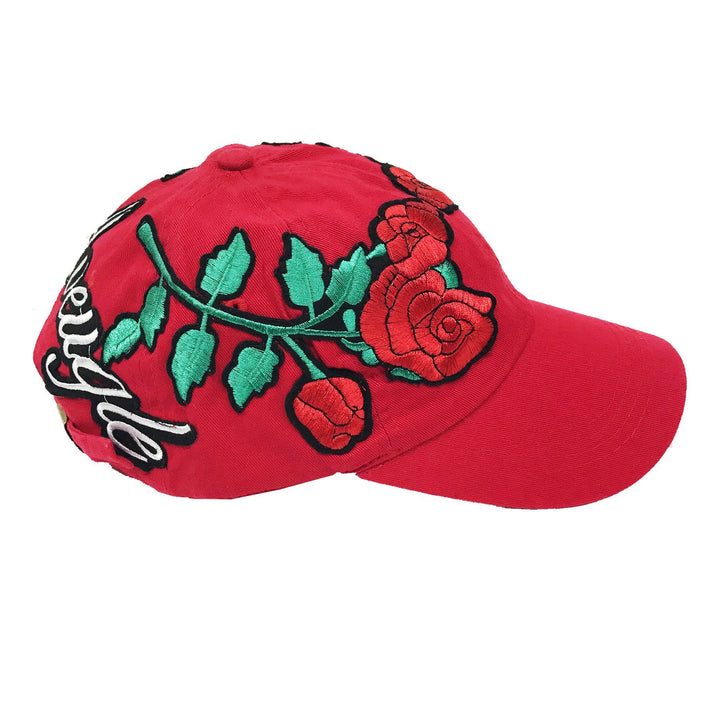 "L Avengles ""Antique Rose"" Dad Hat ""Red"""