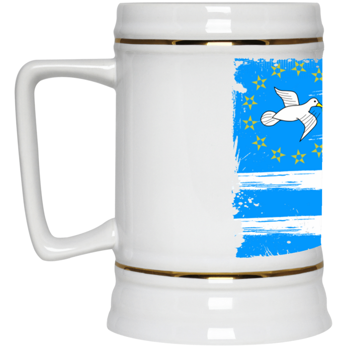 Ambazonia Flag2 Beer Stein 22oz.
