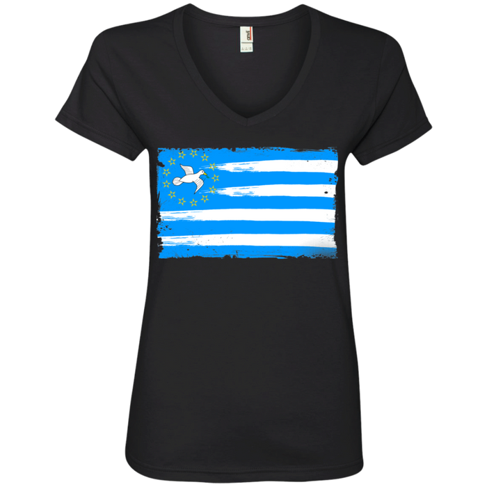 Ladies' FLAG1 V-Neck T-Shirt