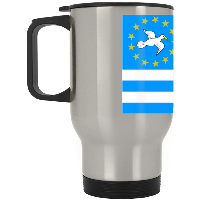 Ambazonia Flag1 Silver Stainless Travel Mug