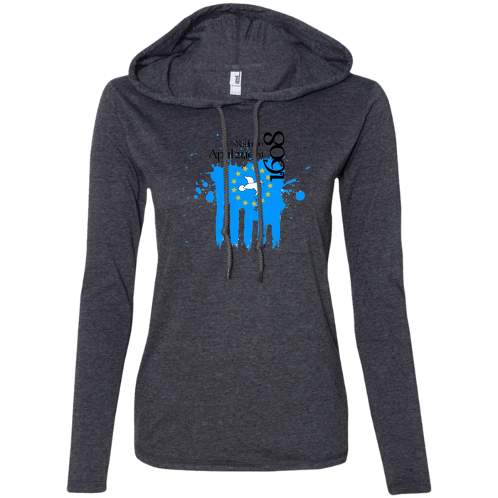 Ladies' 1608C Long-sleeved T-Shirt Hoodie