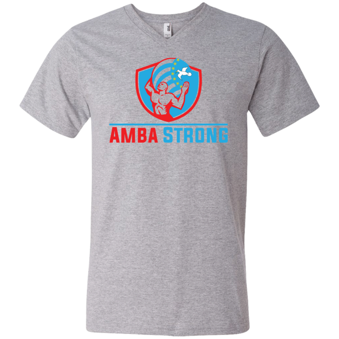 Men's AmbaStrong Printed V-Neck T-Shirt