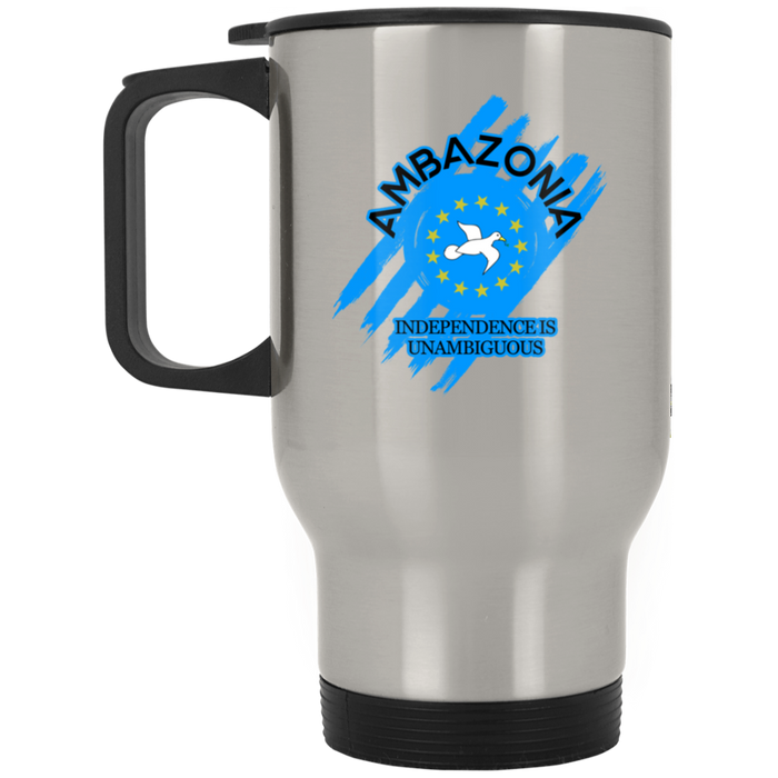 Ambazonia Independence Silver Stainless Travel Mug