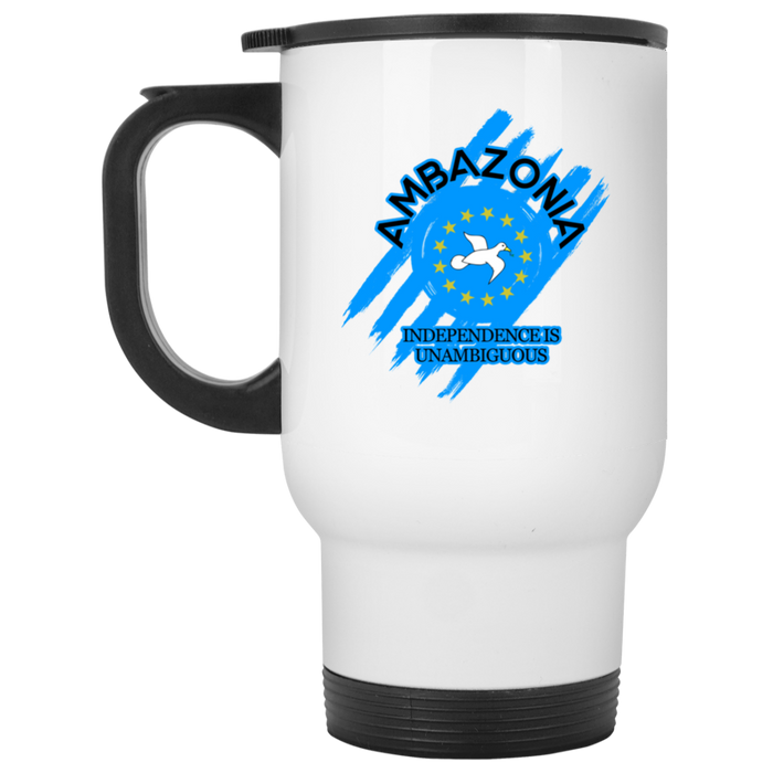 Ambazonia Independence White Travel Mug