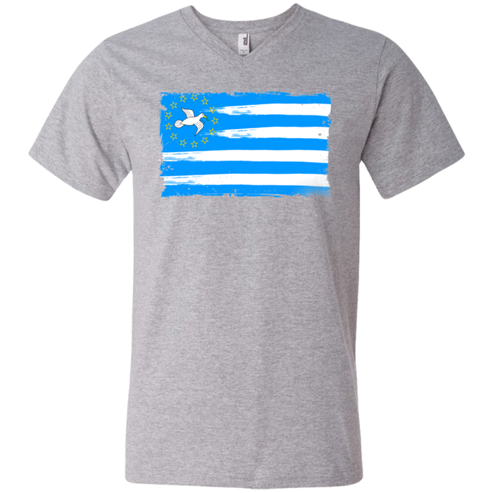 Mens' FLAG1 Printed V-Neck T-Shirt