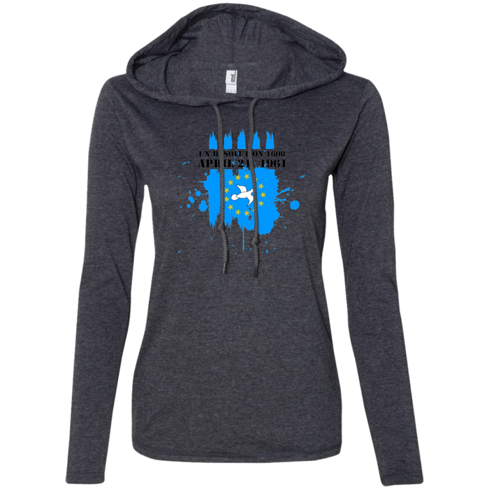 Ladies' 1608A Long-sleeved T-Shirt Hoodie