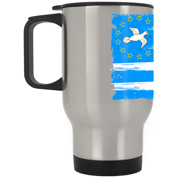 Ambazonia Flag2 Silver Stainless Travel Mug
