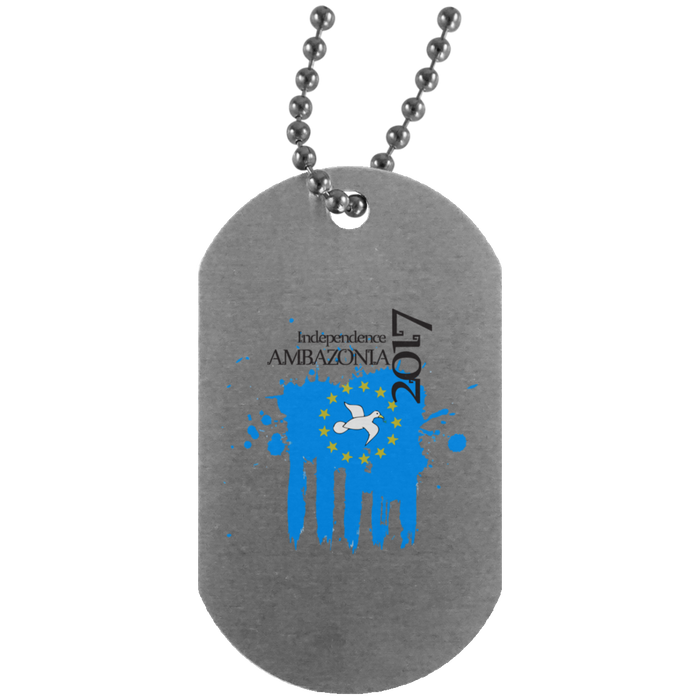 Amba Independence Silver Dog Tag