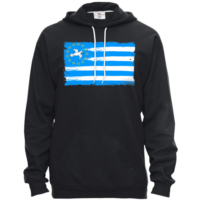 Unisex FLAG1 Pullover Hooded Fleece