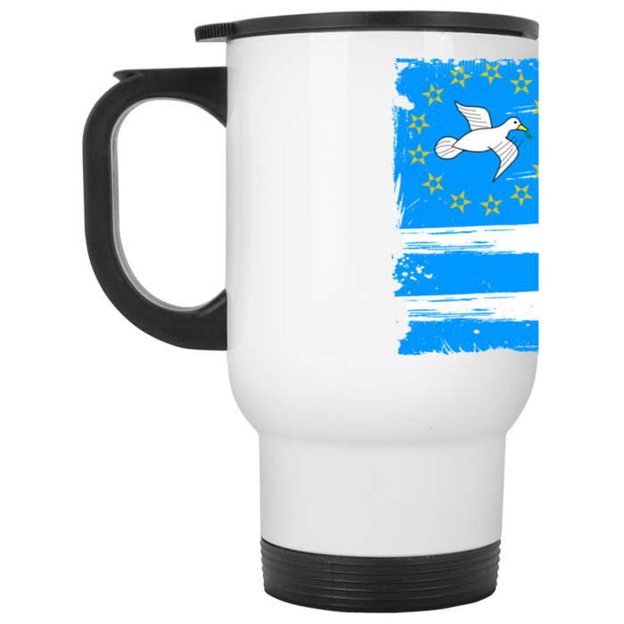 Ambazonia Flag2 White Travel Mug
