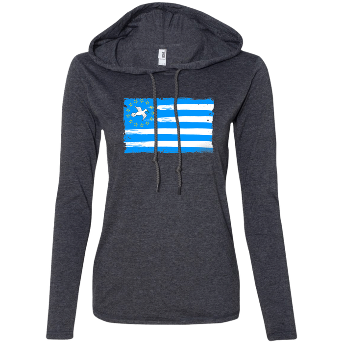 Ladies' FLAG1 Long-sleeved T-Shirt Hoodie