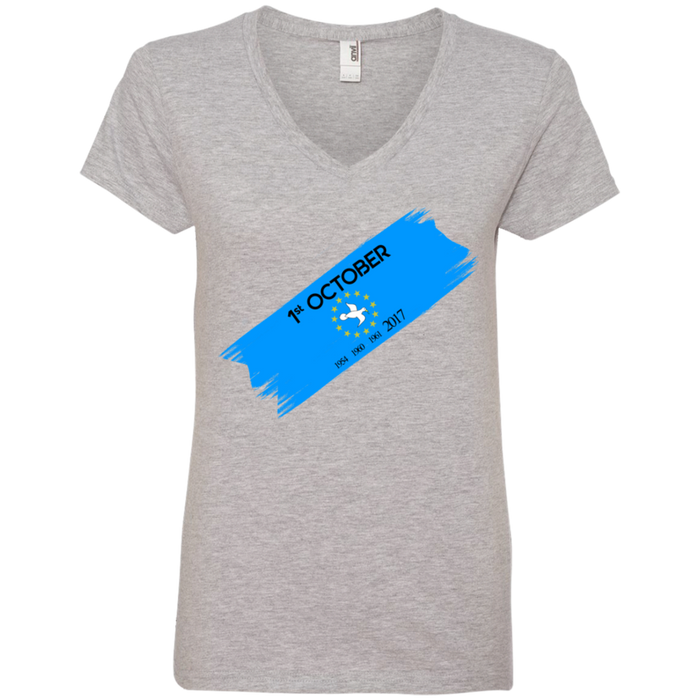 Ladies' Oct1B V-Neck T-Shirt