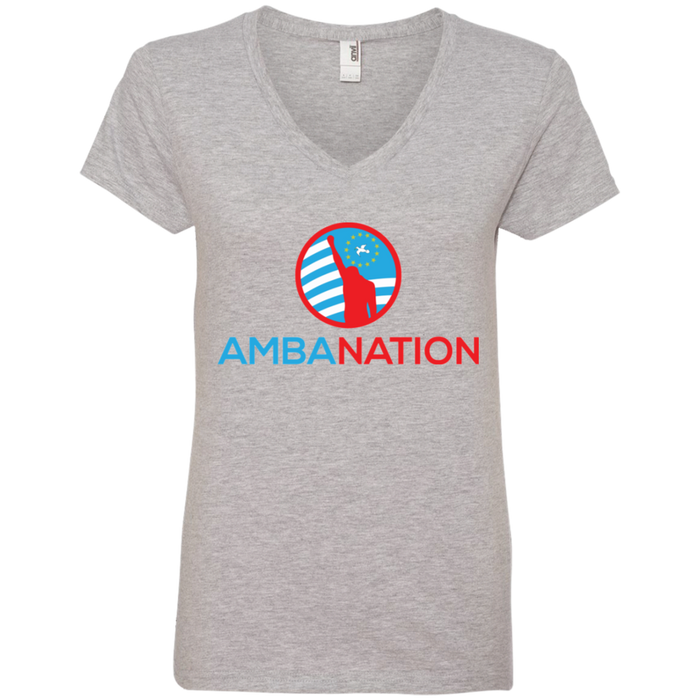 Ladies' AmbaNation V-Neck T-Shirt