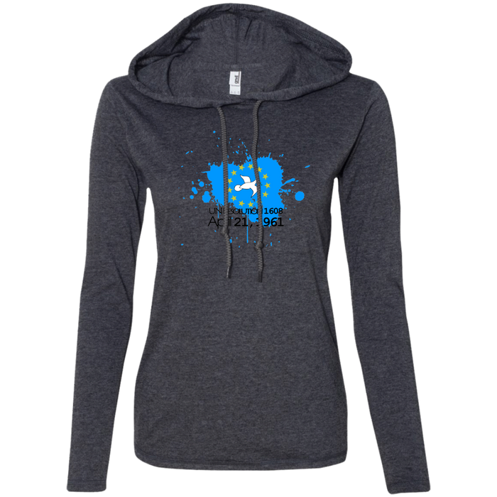Ladies' 1608B Long-sleeved T-Shirt Hoodie