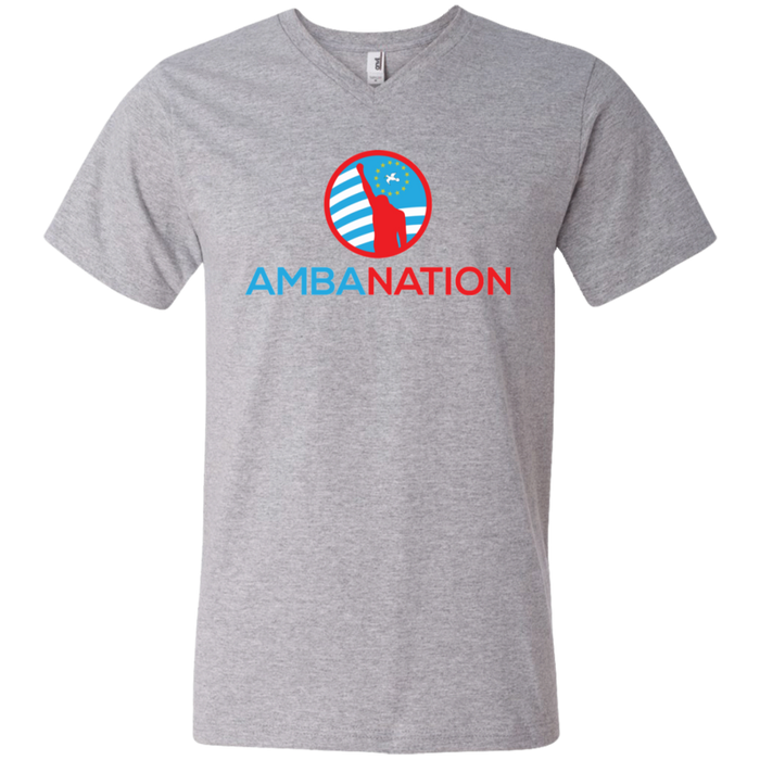 Men's AmbaNation Men's V-Neck T-Shirt