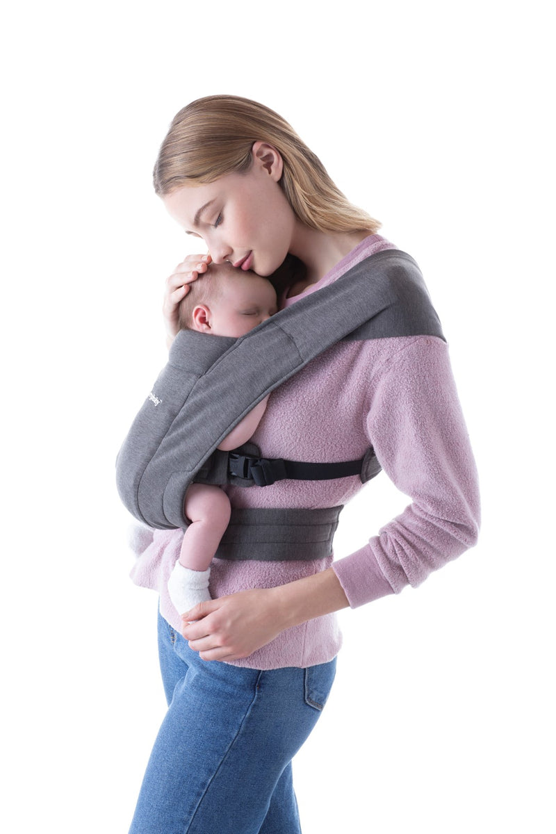 Mehka nosilka za novorojenčke Ergobaby Embrace Newborn Carrier - Heather Grey