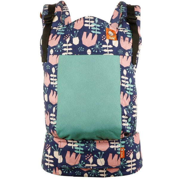 Mehka mrežasta nosilka Tula Toddler Carrier - Coast Twilight Tulip