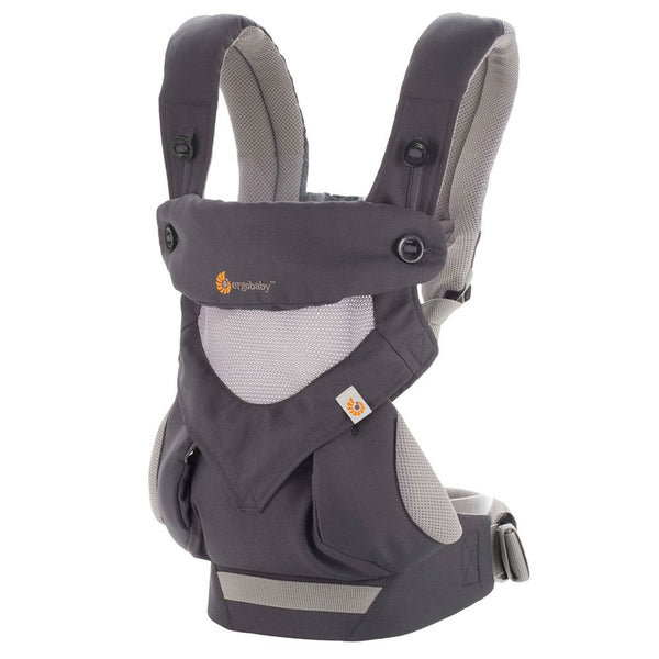 Mehka nosilka Ergobaby 360 All Positions Baby Carrier Cool Air Mash - Carbon Grey