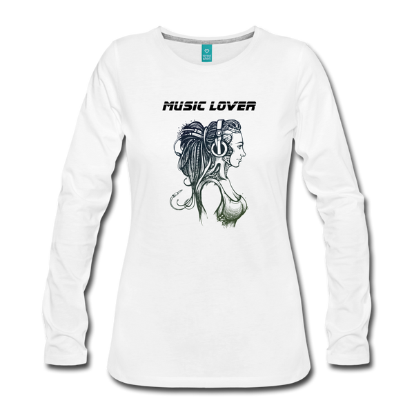 Music Lover Women's Premium Long Sleeve T-Shirt - D&B Zensation