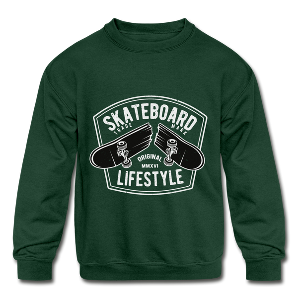 Skateboard Lifestyle Kids' Crewneck Sweatshirt - D&B Zensation