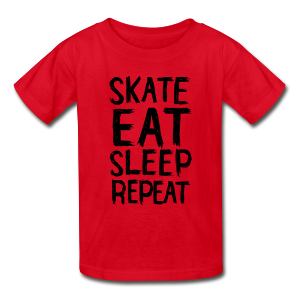 Skate Eat Sleep Repeat Youth T-Shirt - D&B Zensation