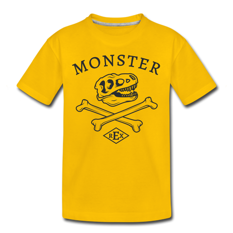 Monster T-Rex Kids' Premium T-Shirt - D&B Zensation