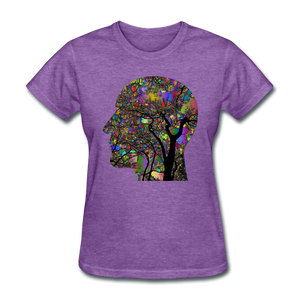 Brain Art Head Women's T-Shirt - D&B Zensation
