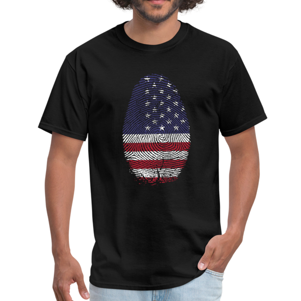 USA Flag Thumb Print Men's T-Shirt - D&B Zensation