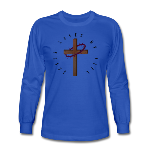 Jesus Saved My Life Long Sleeve T-Shirt - royal blue