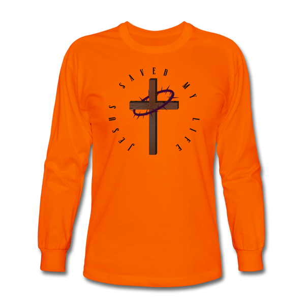 Jesus Saved My Life Long Sleeve T-Shirt - orange