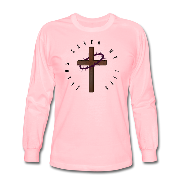 Jesus Saved My Life Long Sleeve T-Shirt - pink