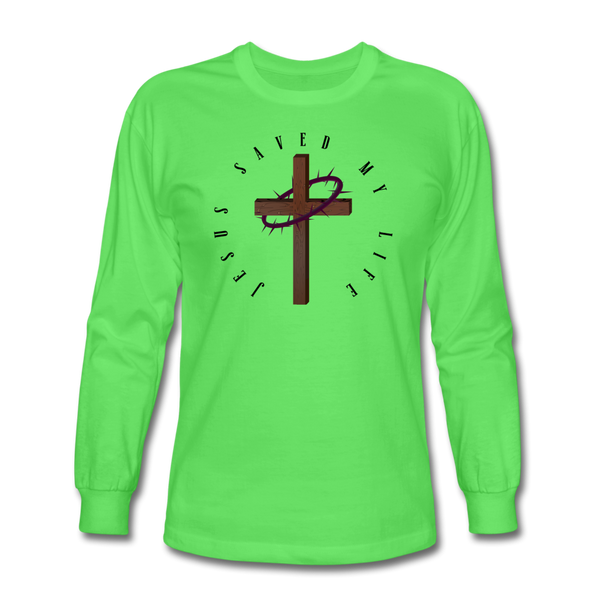 Jesus Saved My Life Long Sleeve T-Shirt - kiwi