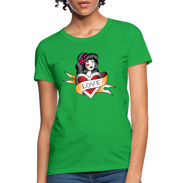Love T-Shirt - bright green