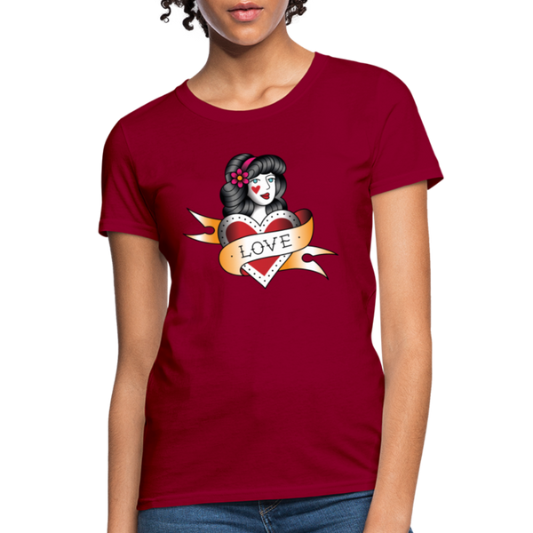 Love T-Shirt - dark red