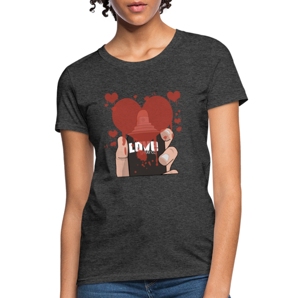 Love Spray T-Shirt - heather black
