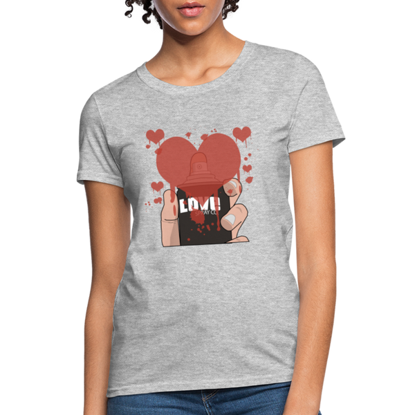 Love Spray T-Shirt - heather gray