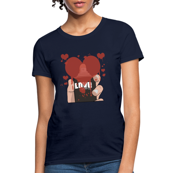 Love Spray T-Shirt - navy