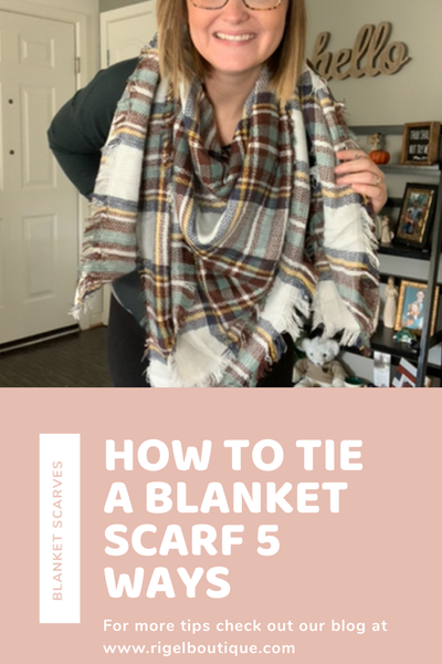 HOW TO WEAR A BLANKET SCARF: 5 WAYS