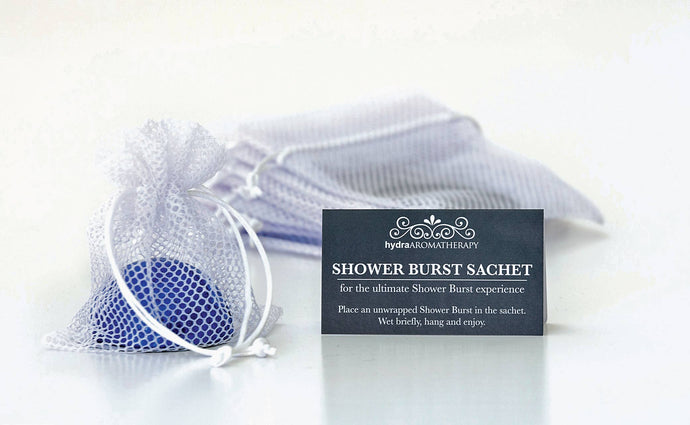 White Sachet Shower Burst Holder